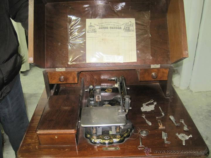 Antigüedades: MAQUINA DE COSER ANTIGUA DE 1872 DE WHEELER&WILSON - Foto 2 - 45522656