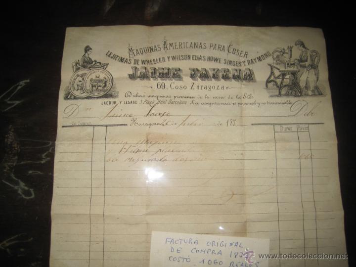 Antigüedades: MAQUINA DE COSER ANTIGUA DE 1872 DE WHEELER&WILSON - Foto 3 - 45522656