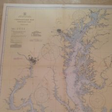Antigüedades: HYDROGRAPHIC OFFICE US NAVY MAP 1939 MARYLAND AND VIRGINIA CHESAPEAKE BAY NORTHERN PART. Lote 45524067