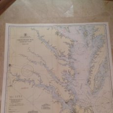 Antigüedades: HYDROGRAPHIC OFFICE US NAVY MAP 1941 MARYLAND AND VIRGINIA CHESAPEAKE BAY SOUTHERN PART. Lote 45524074