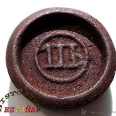 Antigüedades: PESA DE II LIBRAS , 2 LIBRAS - MUY BUEN ESTADO. Lote 45549090