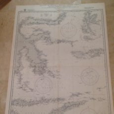 Antigüedades: HYDROGRAPHIC OFFICE US NAVY MAP 1927 EAST. ARCHIPELAGO EAST. PORTION MOLUKKA PASSAGE TO TIMOR ISLAND. Lote 45551029