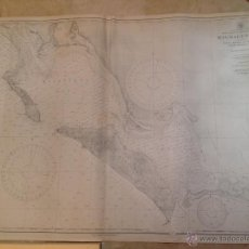 Antigüedades: HYDROGRAPHIC OFFICE US NAVY MAP 1898 WEST COAST OF LOWER CALIFORNIA MAGDALENA BAY. Lote 45551033