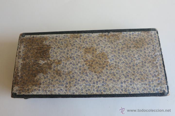 Antigüedades: caja de ponderales monetarios epoca Isabel II completa - Foto 7 - 45553889