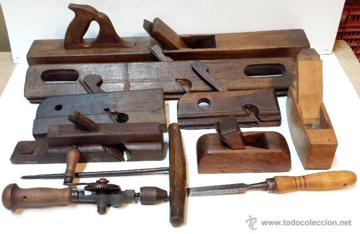 Lote 10 herramientas antiguas carpintero carp comprar - Materiales de carpinteria ...