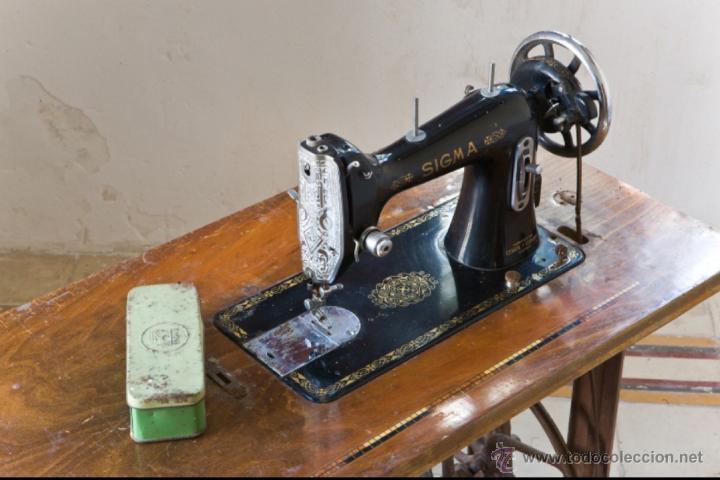 Antigüedades: Antigua maquina de coser Sigma A 107-6 - Foto 2 - 45581287