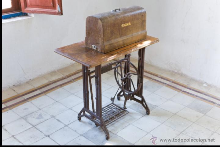 Antigüedades: Antigua maquina de coser Sigma A 107-6 - Foto 3 - 45581287