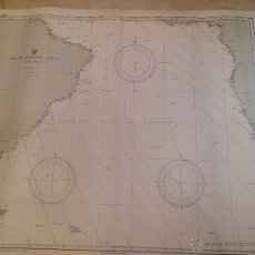 Antigüedades: HYDROGRAPHIC OFFICE US NAVY MAP 1888 SOUTH ATLANTIC OCEAN. Lote 45583526