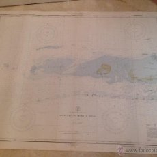 Antigüedades: HYDROGRAPHIC OFFICE US NAVY MAP 1912 GULF COAST SAND KEY TO REBECCA SHOAL. Lote 45583542