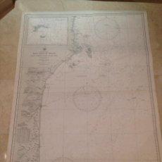 Antigüedades: HYDROGRAPHIC OFFICE US NAVY MAP 1898 EAST COAST OF BRAZIL PONTA CUMURUXATIBA TO RIO DOCE. Lote 45583574