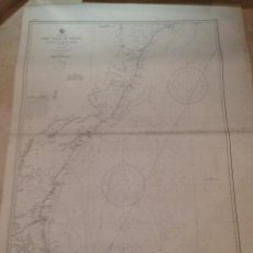 Antigüedades: HYDROGRAPHIC OFFICE US NAVY MAP 1898 EAST COAST OF BRAZIL RIO DOCE TO CAPE ST. THOMÉ. Lote 45583582