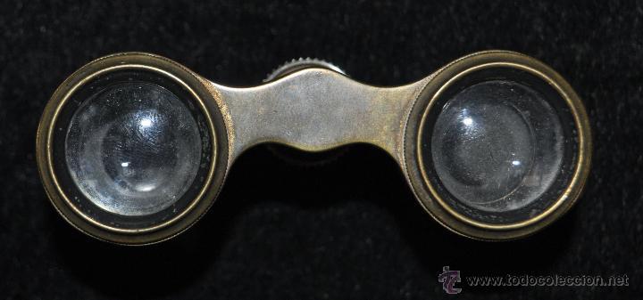 Antigüedades: BINOCULARES DE TEATRO DE FINALES DEL SIGLO XIX EN BRONCE Y PLACAS DE NÁCAR - Foto 3 - 45610951