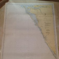 Antigüedades: HYDROGRAPHIC OFFICE US NAVY MAP 1924 FLORIDA LEMON BAY TO PASSAGE KEY INLET. Lote 45650105