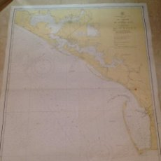 Antigüedades: HYDROGRAPHIC OFFICE US NAVY MAP 1940 FLORIDA ST. JOSEPH AND ST. ANDREW BAYS. Lote 45650115