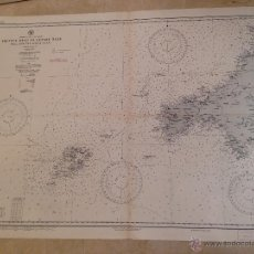 Antigüedades: HYDROGRAPHIC OFFICE US NAVY MAP 1915 ENGLAND TREVOSE HEAD TO PENARE HEAD INCLUDING THE SCILLY ISLES. Lote 45650124