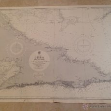 Antigüedades: HYDROGRAPHIC OFFICE US NAVY MAP 1936 WEST INDIES CUBA EASTERN SHEET. Lote 45650148