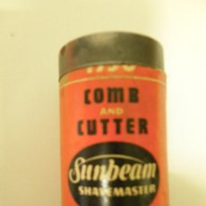 Antigüedades: ANTIGUA CAJA CARTÓN COMB AND CUTTER, SUNBEAM-SHAVEMASTER, MODEL-W. Lote 45673168