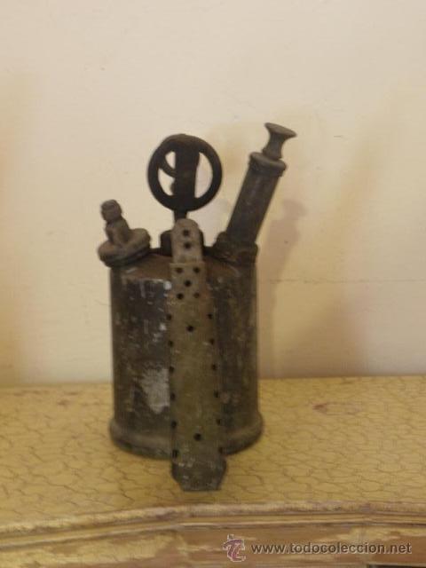 Antigüedades: Bonito soplete, con etiqueta de instrucciones en ingles - Foto 2 - 45673378