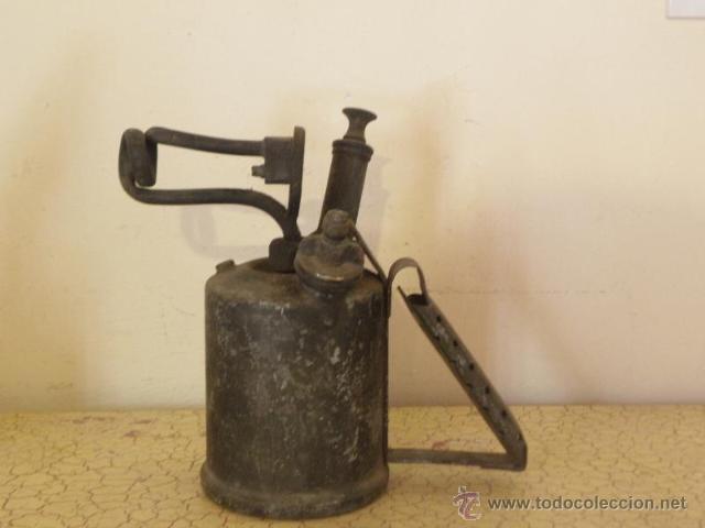 Antigüedades: Bonito soplete, con etiqueta de instrucciones en ingles - Foto 3 - 45673378