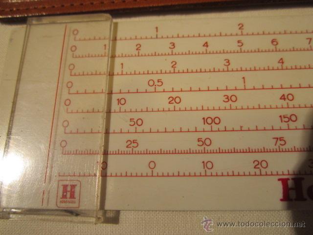 Antigüedades: Regla Honeywell, con equivalencias de medidas. Funda de cuero. 14,5 x 4 cms. - Foto 3 - 45695124