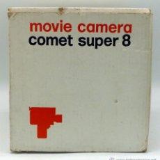 Antigüedades: TOMAVISTAS COMET S 8 SUPER 8 MOVIE CAMERA CON CAJA ESTUCHE INSTRUCCIONES. Lote 45703658