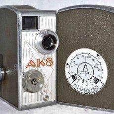 Antigüedades: CAMARA DE CINE A CUERDA 8 MM..PENTACON AK 8+FUNDA..ALEMANIA 1957..MUY BUEN ESTADO.. FUNCIONA. Lote 45721851