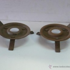 Antigüedades: 2 BASES DE PALMATORIAS. Lote 45765282
