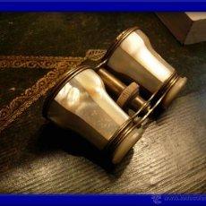 Antigüedades: BINOCULARES O ANTEOJOS DE TEATRO DE NACAR. Lote 28340104