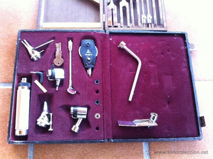Antigüedades: INSTRUMENTAL MÉDICO OTORRINO. DIAPASÓN. OTOSCOPIO. HEINE. GERMANY.MUY BUEN ESTADO. - Foto 2 - 129232462