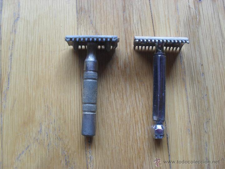 2 MAQUINILLAS DE AFEITAR MANUAL, SIN MARCA, (Antigüedades - Técnicas - Barbería - Maquinillas Antiguas)