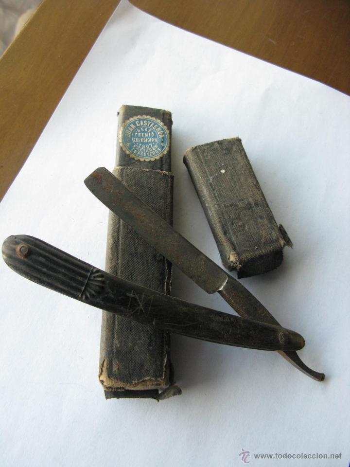NAVAJA AFEITAR. SOLINGEN. GUILLERMO HOPE. SELLO DE JUAN CASTAÑON EXPOSICION 1907 (PARA LIMPIAR) (Antigüedades - Técnicas - Barbería - Navajas Antiguas)