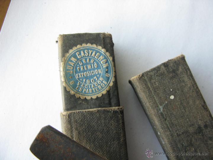 Antigüedades: navaja afeitar. solingen. guillermo hope. sello de juan castañon exposicion 1907 (PARA LIMPIAR) - Foto 2 - 45929948