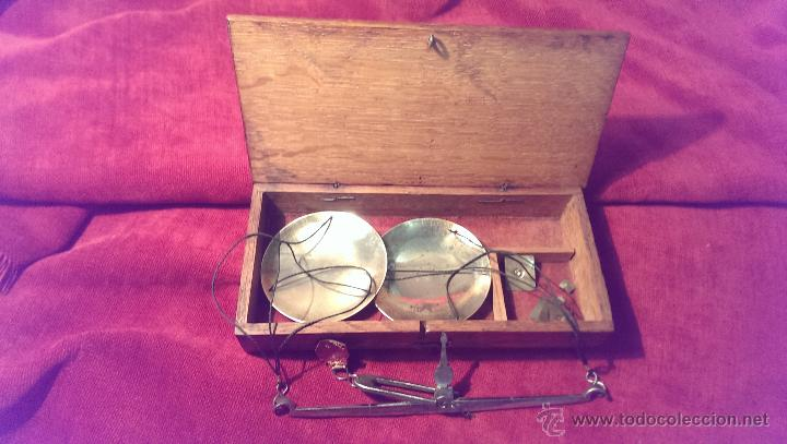 Antigüedades: BALANZA DE PRECISION FINALES DEL XIX PRINCIPIOS XX, MUY BUEN ESTADO, FUNCIONAL - Foto 2 - 45949756