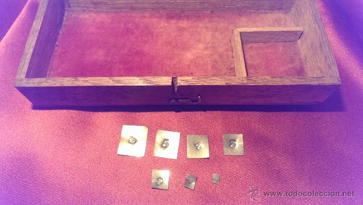 Antigüedades: BALANZA DE PRECISION FINALES DEL XIX PRINCIPIOS XX, MUY BUEN ESTADO, FUNCIONAL - Foto 3 - 45949756
