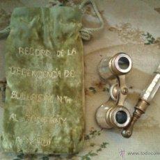 Antigüedades: ANTIGUOS BINOCULARES DE NACAR PRISMATICOS D TEATRO FINALES SIGLO XIX 1889 DE UN BANQUERO DE LA EPOCA. Lote 45988667