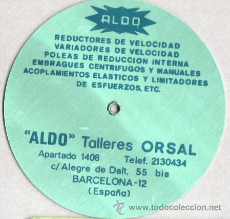 Antigüedades: especie de regla de calculo - tabla -MENANISMOS TRANSMISIONES INDT, DE ALDO - ORSAL BARCELONA - Foto 2 - 46008273