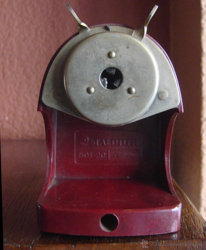 Antigüedades: SACAPUNTAS MANUAL DE SOBREMESA EN BAKELITA MARCA STAEDTLER REF- 501 20 GERMANY AÑOS 30 40 - Foto 2 - 46015840
