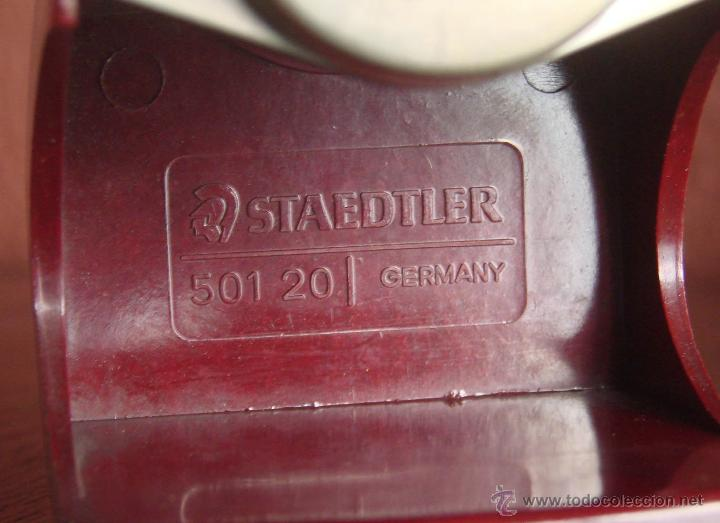 Antigüedades: SACAPUNTAS MANUAL DE SOBREMESA EN BAKELITA MARCA STAEDTLER REF- 501 20 GERMANY AÑOS 30 40 - Foto 4 - 46015840