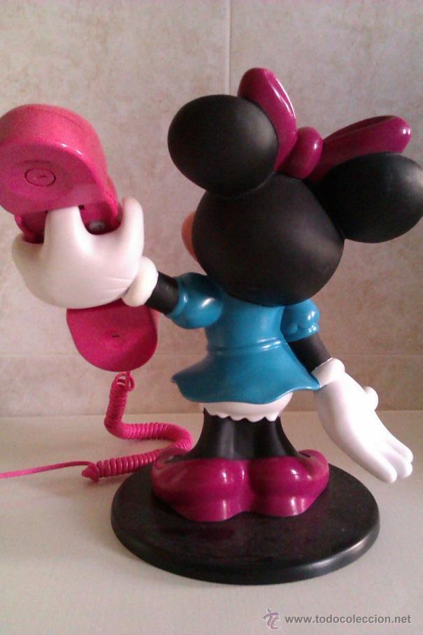 Teléfonos: TELEFONO VINTAGE DISNEY FIGURA MINNIE MOUSE TAMAÑO GRANDE 28 CM ADAPTADO RED ESPAÑOLA AÑOS 60/70 - Foto 3 - 109526120