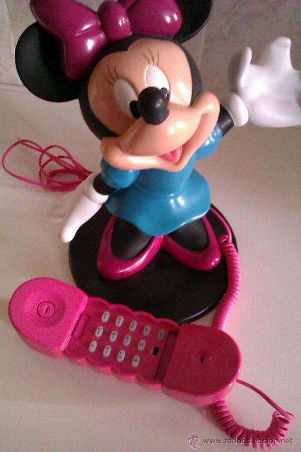 Teléfonos: TELEFONO VINTAGE DISNEY FIGURA MINNIE MOUSE TAMAÑO GRANDE 28 CM ADAPTADO RED ESPAÑOLA AÑOS 60/70 - Foto 4 - 109526120