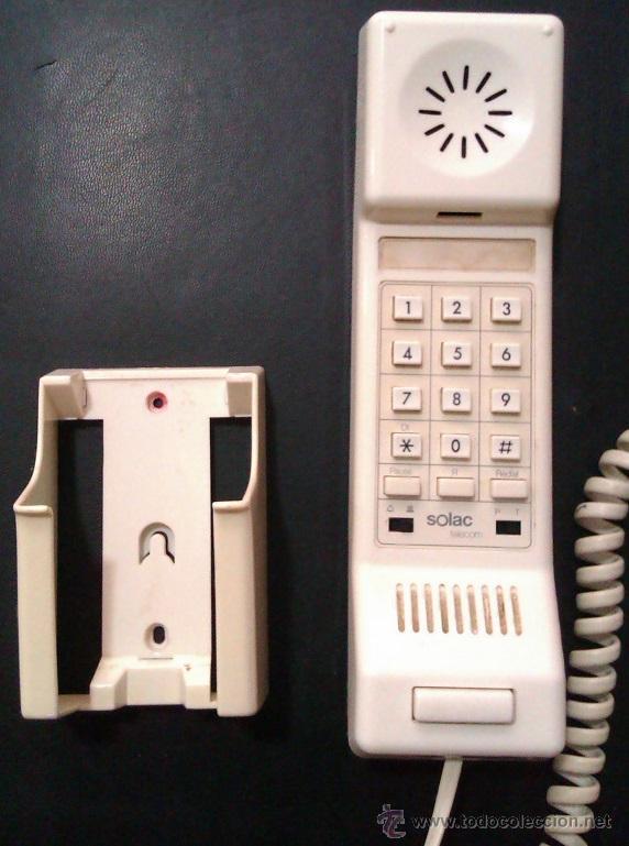 Teléfonos: TELEFONO VINTAGE SOLAC TELECOM DE PARED CON BASE PARA COLGARLO EN BUEN ESTADO Y FUNCIONANDO - Foto 2 - 46046864