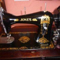 Antigüedades: ANTIGUA MAQUINA DE COSER JONES DE 1900-1915 FUNCIONADO. Lote 46077405