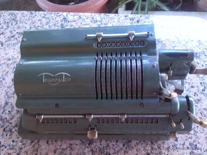 Antigüedades: antigua calculadora triumphator. - Foto 2 - 46093461