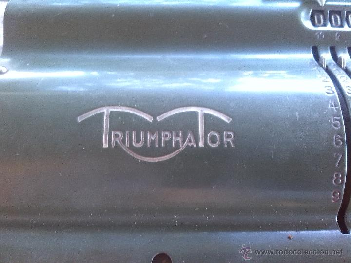 Antigüedades: antigua calculadora triumphator. - Foto 6 - 46093461