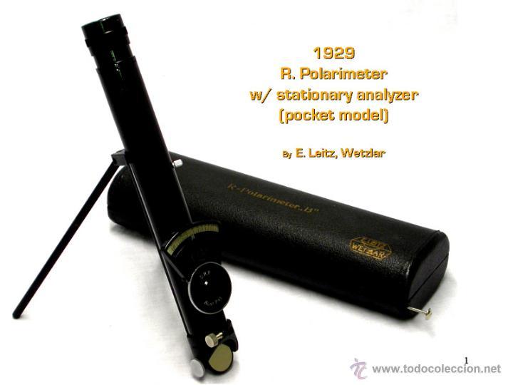 POLARIMETRO O POLAROSCOPIO ERNST LEITZ WETZLAR DE 1930 POLARIMETER POLAROSCOPIC (Antigüedades - Técnicas - Otros Instrumentos Ópticos Antiguos)