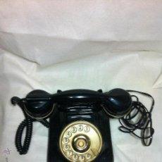 Teléfonos: TELEFONO NEGRO DORADO FUNCIONA. Lote 46121777