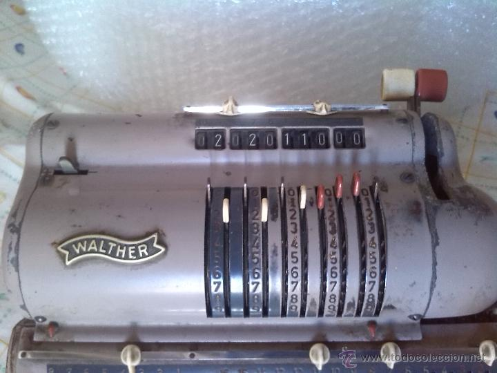 Antigüedades: antigua calculadora walther - Foto 3 - 46133788