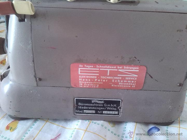 Antigüedades: antigua calculadora walther - Foto 6 - 46133788