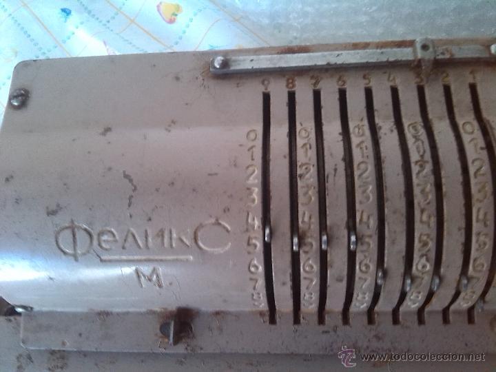 Antigüedades: antigua calculadora feliks - Foto 3 - 46134095