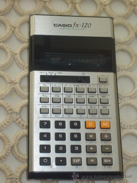 CALCULADORA CASIO MODELO FX-120. (Antigüedades - Técnicas - Aparatos de Cálculo - Calculadoras Antiguas)